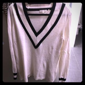 Minnie rose black white sweater